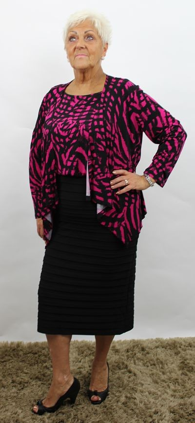 Pink Personal Choice Pink and Plack Dress and Jacket in ...