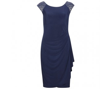 Gina Bacconi Navy Dress available in plus sizes