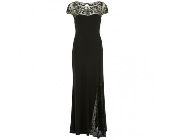 Black Gina Bacconi Evening Dress