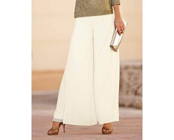 Ivory Palazzo Trousers