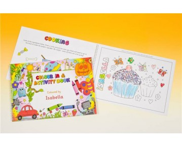Personalised A4 Colour In and Activity Book
