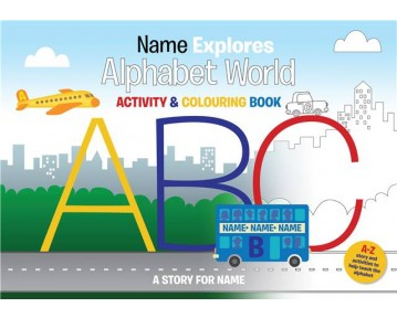 Personalised A4 Alphabet World COLOURING Book