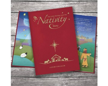 The Little Donkey and the Nativity Story embossed classic hardcover