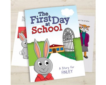 Personalised First Day At School - Hardback