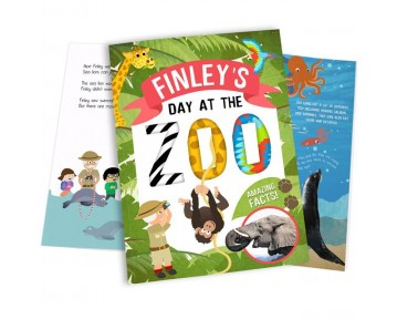 Personalised Day at the Zoo Book Hardback