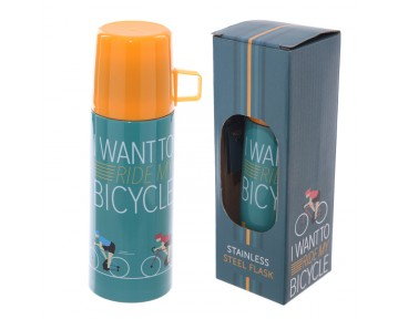 Funky 350ml Flask - Cycling Design