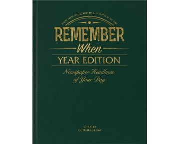 Year Edition Newspaper Book - Racing Green Leatherette