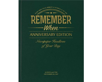 Anniversary Edition Newspaper Book - Racing Green Leatherette