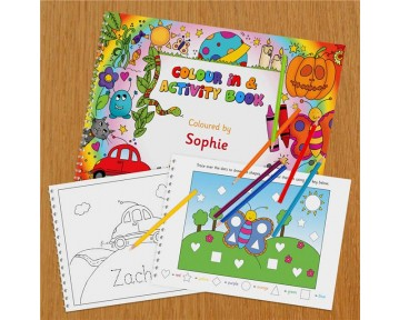 Personalised A3 Colour In and Activity Book