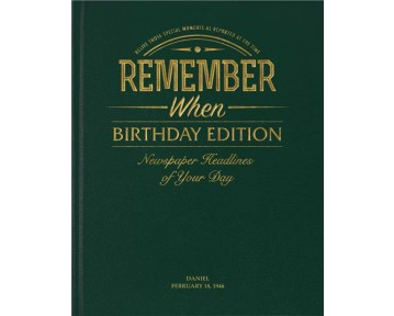 Birthday Edition Newspaper Book - Racing Green Leatherette