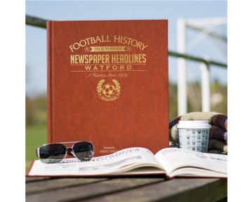 Watford Newspaper Book - Brown Leatherette Colour Pages