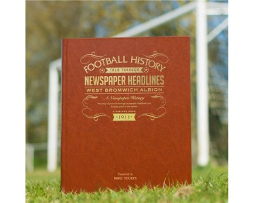 West Bromwich Albion Newspaper Book - Brown Leatherette Co;our Pages