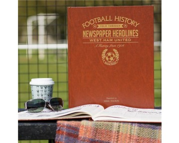 West Ham Newspaper Book - Brown Leatherette Colour Pages