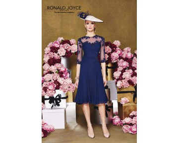 Navy Ronald Joyce Dress  991059