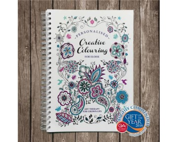Personalised Creative Colouring Softback A5