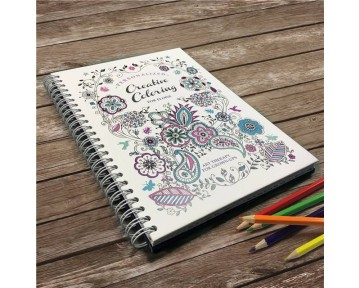 Personalised Creative Colouring Hardback A5