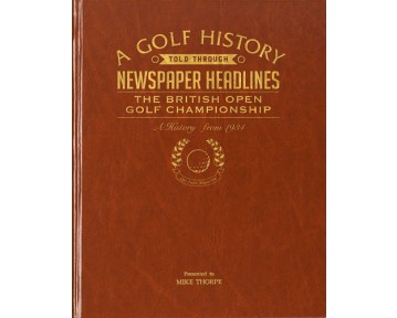 The Open Golf Newspaper Book - Brown Leatherette (Colour Pages)
