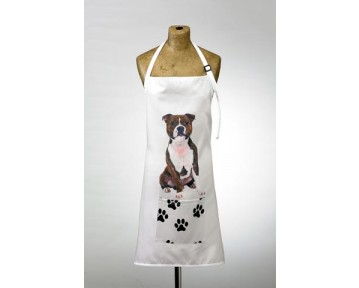 Adorable Staffie Design Apron
