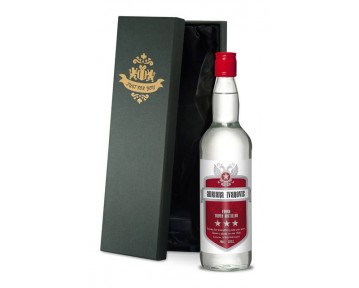 Personalised Vodka with Red Shield Label in a Premium Silk Lined Box