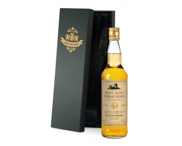 Personalised Single Malt Whisky Wedding Label in a Silk Lined Box