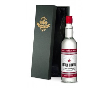 Personalised Vodka with Classic Style Label in a Premium Silk Lined Box