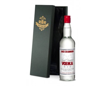 Personalised Vodka with White Label in a Premium Silk Lined Box
