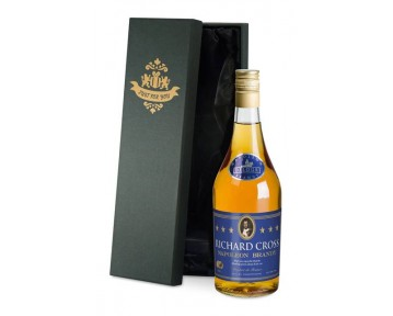 Personalised Brandy with Generic Label in a Premium Silk Box