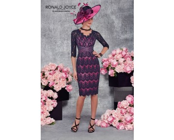 Ronald Joyce navy and cerise outfit 991160
