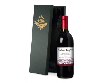 Personalised French VdP Red Wine with Vineyard Label in a Silk Lined Box