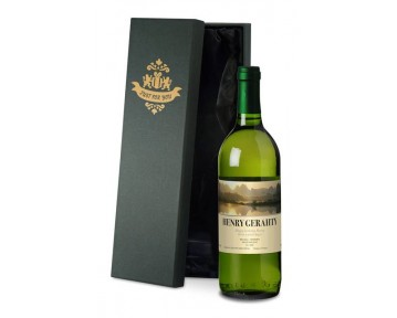Personalised French VdP White Wine with Sunset in Silk Lined Box