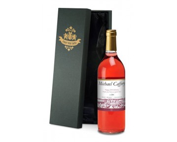 Personalised French VdP Rosé Wine with Vineyard label in a Silk Box