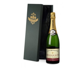 Personalised Champagne Birthday Star Label in a silk lined Gift Box