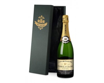 Personalised Champagne - Authentic Star Label in a silk lined Gift Box