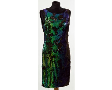 Apanage Green Sequin Dress