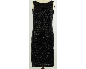 Apanage Black Sequined Dress