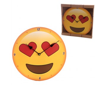 Decorative Emotive Heart Eyes Wall Clock