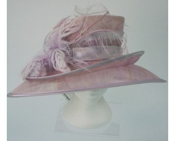 Pink Oval Shaped Hat