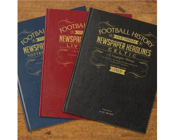 Leather Bound Football Newspaper Book (61 teams)