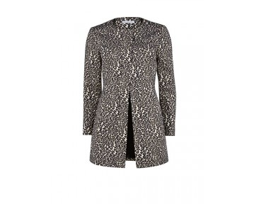 Gina Bacconi Gold Animal Print Jacket