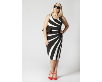 Personal choice black and white striped dress