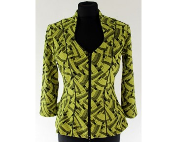 Tia Lime Green Jacquered Jacket