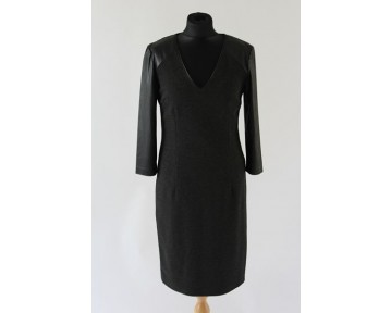 Apanage Leather sleeved dress