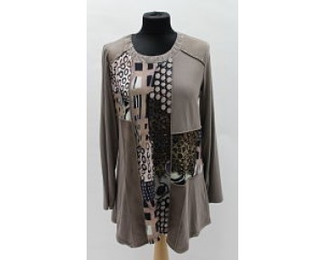 Jorli brown print top