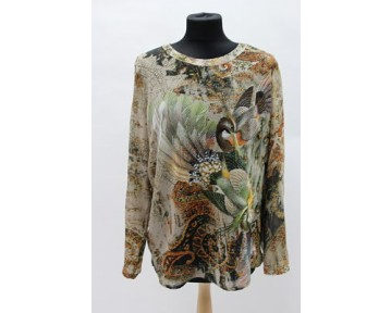 Apanage birds of paradise blouse