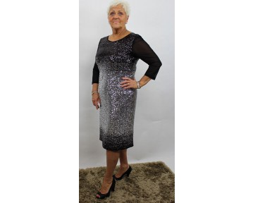 Apanage silver sequin dress