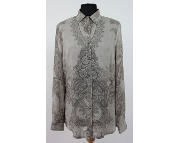 Apanage Grey Paisley Shirt