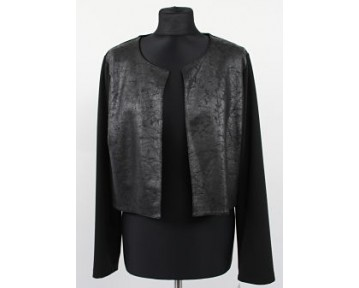 Personal Choice Mock Leather Cropped Jacket