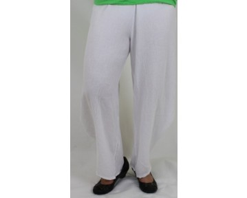 One Life White cotton Trousers