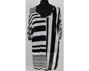 One Life Striped Tunic top