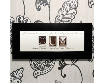 Personalised Affection Art Mum Small Frame